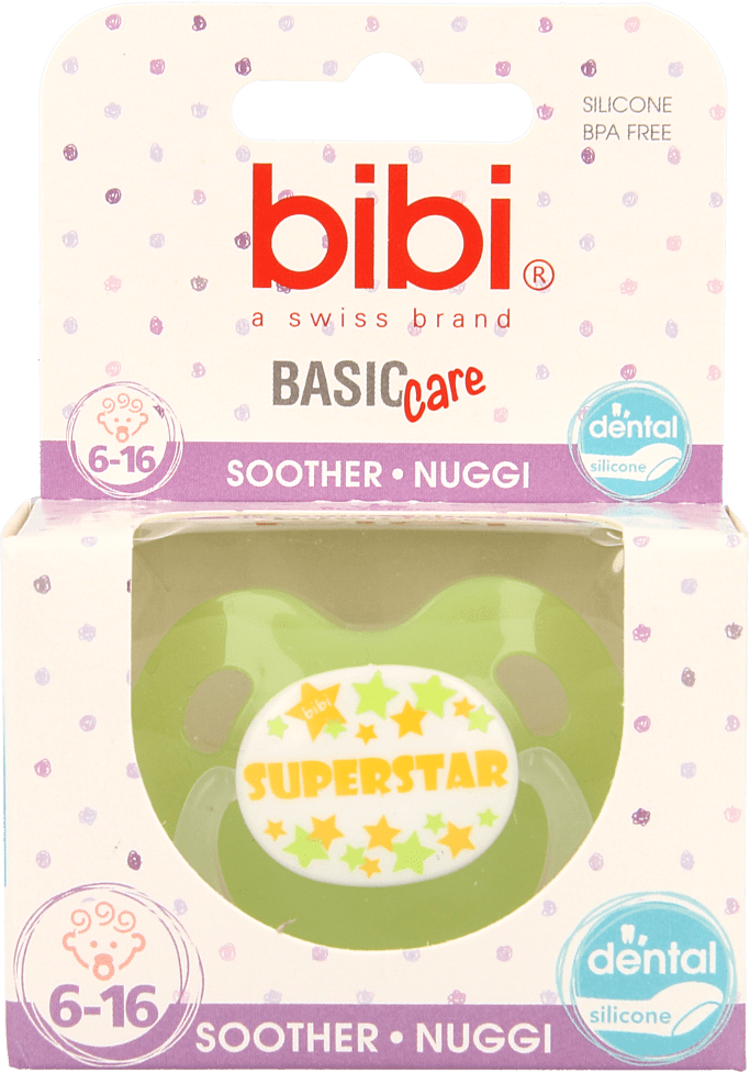 Bibi Fopspeen Superstar 6-16 maanden