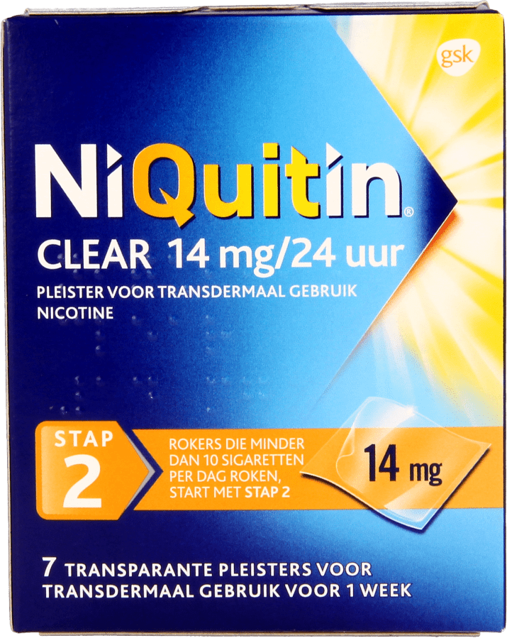Niquitin Clear Patch 14mg Stap 2