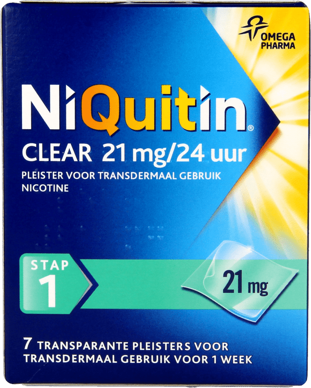 Niquitin Clear Patch 21mg stap 1