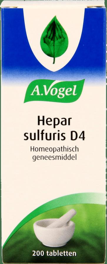 A. Vogel Hepar Sulfuris D4 tabletten