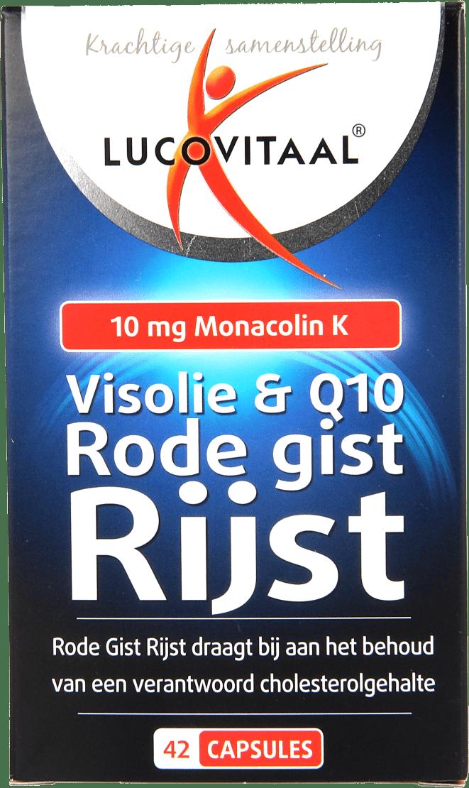 Lucovitaal Rode Gist Rijst + Visolie & Q10 Capsules