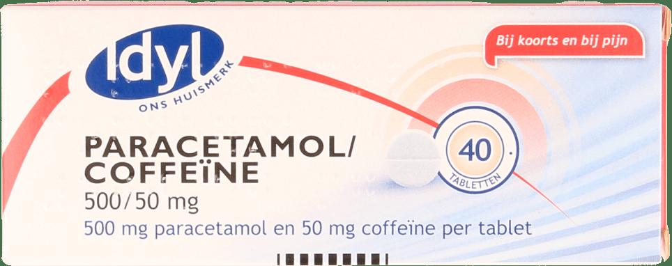 IDYL Paracetamol/Coffeïne 500/50 mg Tabletten