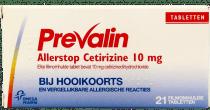 Prevalin Allerstop Cetirizine 10 mg.