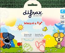 Difrax Wegwerpslab Woezel & Pip