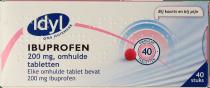 IDYL Ibuprofen 200 mg Omhulde Tabletten